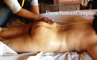 Desi wife Suman getting nude massage soft-pedal filming [Part 1]