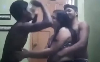 Indina aunty dancing beside two boys