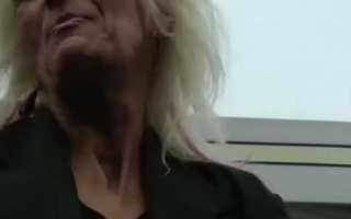 IMWF- Nasty White French Granny copulates with black indian guy big black cock